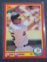 1990 Score MARK McGWIRE Baseball Card #385 Oakland Athletics Mint Condition