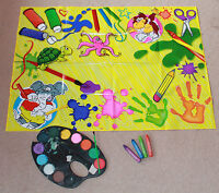 NO MESS KIDS PLASTIC PAINTING PLAY CRAFTS MAT FLOOR TABLE COVER ART BABY FEEDING