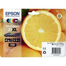 MULTIPACK 5 CARTOUCHE EPSON 33XL NOIR + PHOTO + M+C+Y / orange t3357 33 xl noire