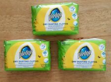 Pledge Dry Dusting Cloths Citrus 3 X 20 Packs Free P&P