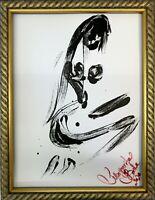 Margarita Bonke Malerei PAINTING erotic EROTIK akt nu art black white schwarz A3