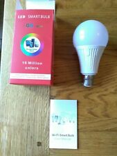 Smart lightbulb - bayonet cap / BC - coloured - free postage