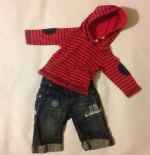 Baby Boys 3-6 Months NEXT Blue Jeans + M&Co Long Sleeve Hooded T-shirt Outfit