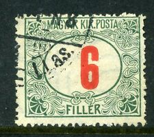 HUNGARY; 1915-18 early Postage Due issue fine used value 6f.