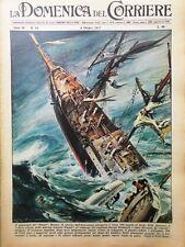 La Domenica del Corriere 6 Ottobre 1957 Norvegia Sibelius Pamir Uragano Carrie