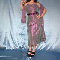 flieder COCKTAILKLEID + Stola* XS 34 Abendkleid* Etuikleid* Minikleid* Ballkleid