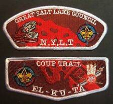 GREAT SALT LAKE COUNCIL EL-KU-TA OA LODGE 520 COUP TRAIL NYLT WHITE FLAP  CSP