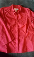 Croft & Barrow Red 3/4 Sleeve Button Down Shirt- Petite Small GUC- Free Shipping