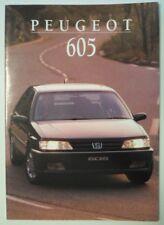 PEUGEOT 605 RANGE orig 1995 UK Mkt Sales Brochure
