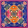 Women's Noble Dome Print Twill Silk Square Scarf Large Shawl Hijab 100*100cm