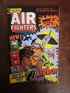 Air Fighter Classics #1 - origin of Airboy - Golden Age reprints - Eclipse