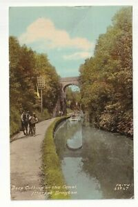 A Frith Card of Deep Cutting on the Canal, Market Drayton. Shropshire.