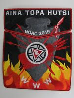 2015 NOAC Centennial OA Aina Topa Hutsi Lodge 60 RED BDR 2pc Flap [S373]
