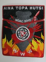 2015 NOAC Centennial OA Aina Topa Hutsi Lodge 60 RED BDR 2pc Flap [S373]