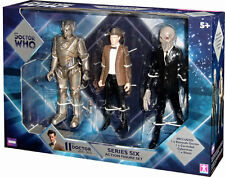 BBC Doctor Who Series Six  3 Figure Set - 11th Doctor, Silent, Corroded Cyberman