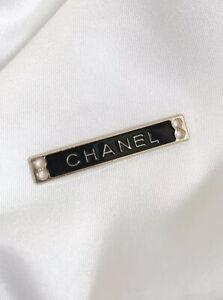 Chanel Logo Gold Plated Metal Zipper Pull, Black, 35mm