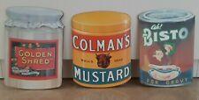More details for set of 3 vintage melamine chopping boards, kitchenalia, memorabilia - vgc