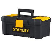 STANLEY PORTABLE TOOL BOX Lockable Small Tools Garage Storage Organizer Black