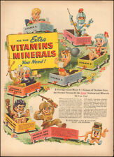 1948 Vintage ad for Ovaltine Chocolate favor drink art Vitamins Post WW (050618)