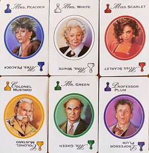 Clue 1996 Cards SUSPECT People You Pick Game Replacements FREE SHIPPING