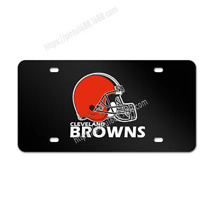 Cleveland Browns Liscense Plate Aluminum Metal License Plate Car Tag Cover Gift