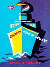 Ruta de viaje Harwich Gancho Holanda ferry Lancha Barco Mar Reino Unido Art Print BB10064