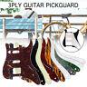 HSS 3ply Scratchplate Guitar Pickguard For Fender USA/ MEX Strat Stratocaster