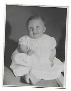 9 x 7 Original Marcus Adams Photo Inconnu Slobbery Bébé Looks Like Gerber Baby
