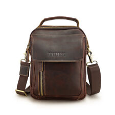 Vintage Men Leather Shoulder Bag Office Business Messenger Crossbody Bag Satchel