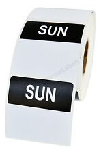 20 Rolls of Sunday Day of the Week Labels (500 labels/roll, 40mmx40mm) BPA Free!
