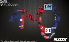SMX graphics for Leatt Brace neck protection stickers Leatt GPX Adventure decals