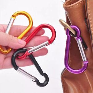 5Pcs Climbing Accessory Random Color D Shaped Alloy Carabiner Hook Keychain 4#