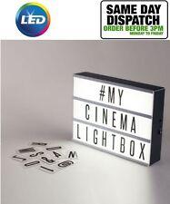 Caja de luz LED de cine de A4 Hágalo usted mismo mensaje para Boda Fiesta tienda placa