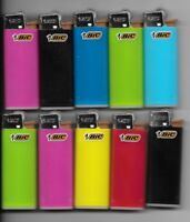 10 MINI BIC LIGHTER ASSORTED COLORS NEW SMALL SIZE BIC WITH FLUID NOT REFILLABLE