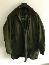 Mens Barbour Border wax jacket Dark Green coat 44 in size Large / Extra Large #3
