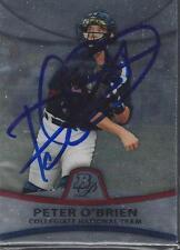 Peter O'Brien 2010 Collegiate National Team Bowman Platinum Signed Card