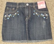 NWT Gymboree Malibu Cowgirl Denim Flower Floral Skirt Size 4