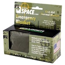 """NEW Grabber Outdoors Space Emergency Thermal Blanket 56""""x96"""" Olive Green"""