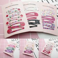 6pcs Cute Girls Baby Kids Children Hair Accessories Slides Snap Hair Clips Gift