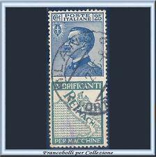 1924 Italia Regno Pubblicitari Reinach cent. 25 azzurro e verde n. 7 Usato [x]