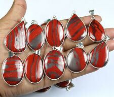 Hot Sale 50 PCs Natural Iron Tiger's Eye Gemstone Silver Plated Bezel Pendants