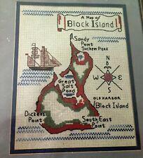 New listing Block Island Rhode Island Nautical Cross Stitch Kit
