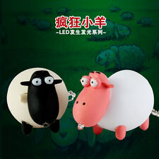 3D CUTE Sheep Light Up LED Torch With sound Keyrings KeyChain TOYS UKYS103