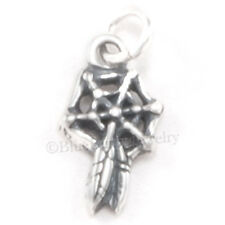 DREAM CATCHER Charm Pendant STERLING SILVER small tiny 3D 925