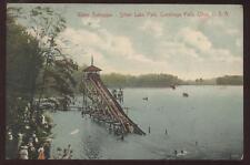 Postcard Silver Lake Water Toboggan Cuyahoga Falls OH