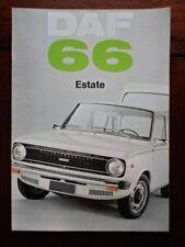DAF 66 ESTATE CAR orig 1973 UK Market Sales Brochure