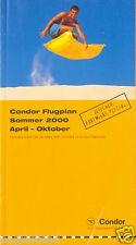 Airline Timetable - Condor - Summer 00 - New to Fort Meyers Pescara