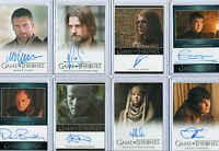 Game Of Thrones Autograph And Relic Card Selection NM Rittenhouse