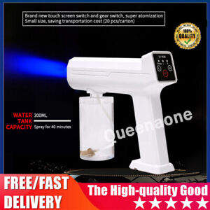 Wireless Nano Blue Light Steam Spray Disinfection Sprayer Gun USB-Charging UK✅