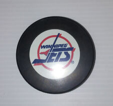 NHL VINTAGE WINNIPEG JETS In Glas Co OFFICAL  GAME PUCK 80'S CZECHOSLOVAKIA